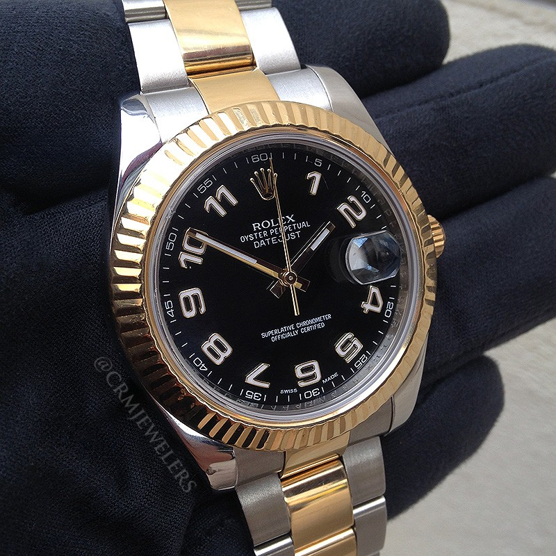 Rolex Datejust Ii Two Tone Black Arabic Crm Jewelers