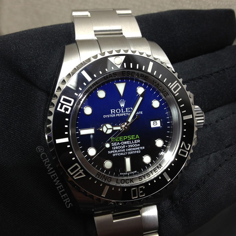 Rolex Deepsea Stainless Black And Blue Crm Jewelers