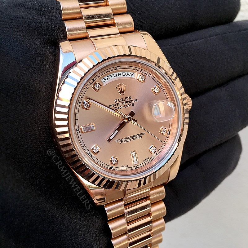 Rolex Day-Date II Gold President Diamond - CRM Jewelers ...