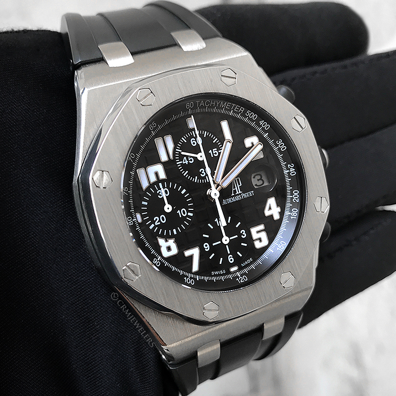 2cd27bc05e5 Audemars Piguet Royal Oak Offshore Chrono Stainless Black Rubber ...