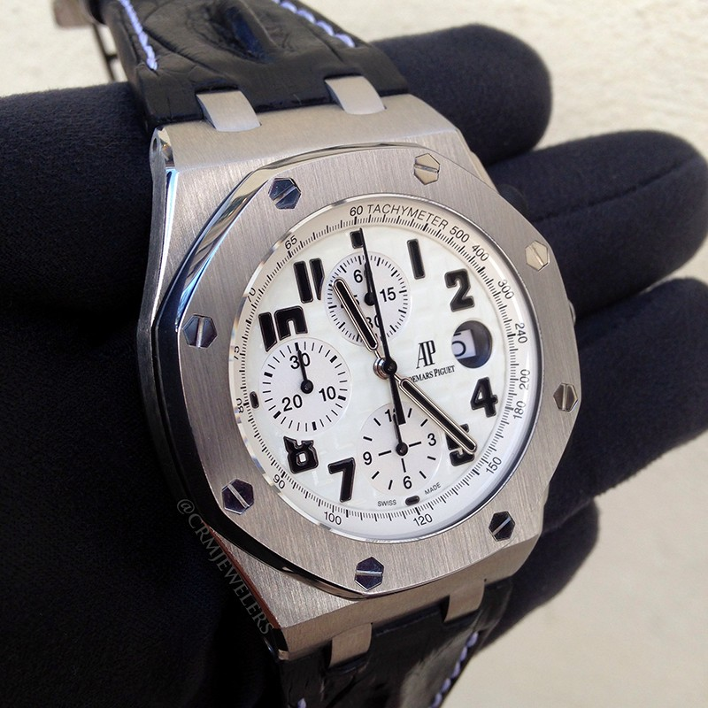 Audemars Piguet Royal Oak Offshore Chrono Safari Stainless White