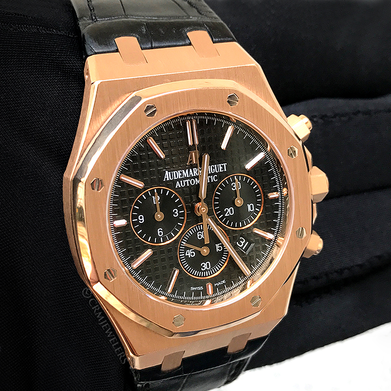 Audemars Piguet Royal Oak Chronograph Rose Gold Black
