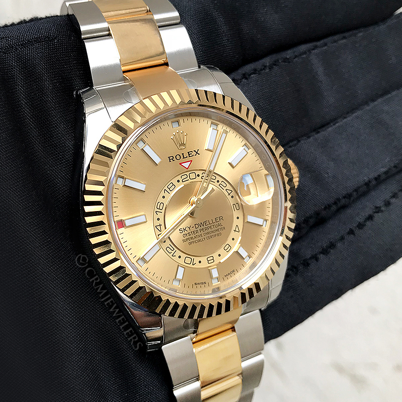 52b5f1948d9 Rolex Sky-Dweller Two-Tone Champagne - CRM Jewelers - Miami