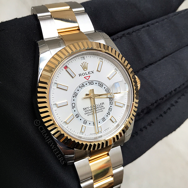 Rolex Sky,Dweller Two,Tone White