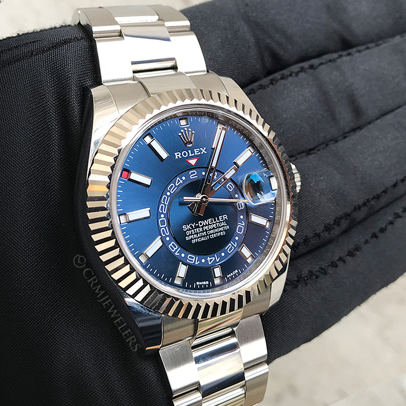 fded40a116c Rolex Sky-Dweller Stainless-Steel Blue - CRM Jewelers - Miami