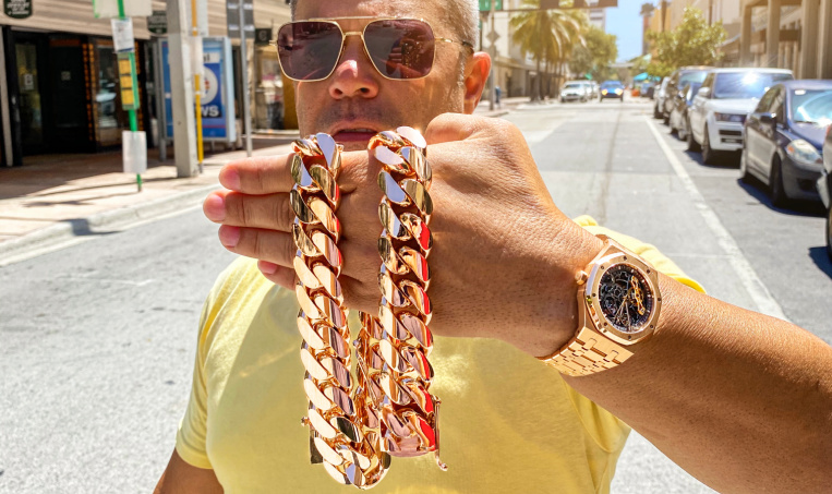 crm jewelers gold cuban link chain