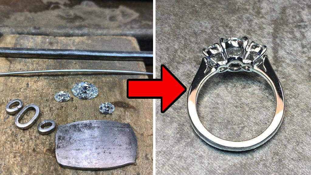 platinum ring before and after